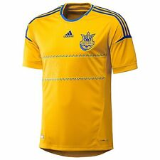 100% Original Soccer Shirt Team Ukraine Home Euro 2012 Adidas Football Yellow