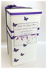 Butterfly Personalised Wedding Card Post Box. Various Colours!