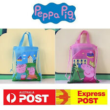 New Pig Cartoon George Backpack School Girls Boys Kids Party Bag Loot Hand Bags
