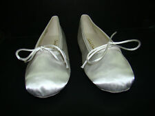 Womans White Satin Ballet Slippers