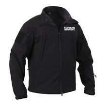 Black Security Special Ops Soft Shell Jacket With Hood 97670 Rothco
