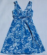 New Lilly Pulitzer XS fit00 0  Shianne V neck Jersey Dress Ariel Blue Tide pools