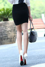 Sexy Black Bandage High Waisted Mini Stretch Skirt Short Bodycon Fit