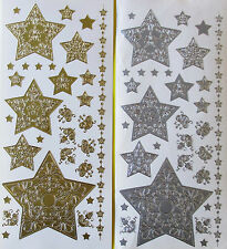 Stars Large Medium Small PEEL OFF STICKERS Corners Borders Filigree