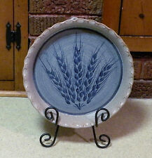 Hand Thrown Pottery - Pie Plate Wall Hanging -  Artist Signed