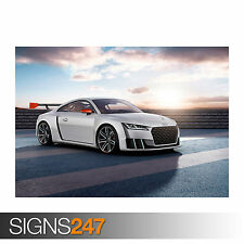 2015 AUDI TT CLUBSPORT TURBO CONCEPT (0034) Car Poster -  Photo Poster Print Art