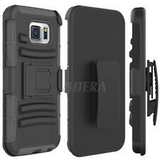 High Impact Combo Belt Clip Holster Kickstand Case For Samsung Galaxy S6 / Edge