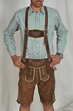 German Bavarian Lederhosen  (Original  Cowhide leather)