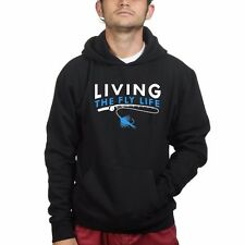The Fly Life Fishing Mens Sweatshirt Hoodie Hoody