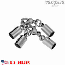 Stainless Steel Necklace Chain Cord Ends Caps Sets Jewelry DIY Findings 11x4mm
