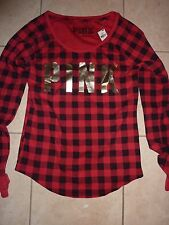 VICTORIAS SECRET PINK LONG SLEEVE SCOOPNECK THERMAL CHOICE NWT