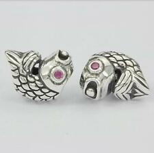 Authentic 925 Sterling Silver Lucky Fish Charm