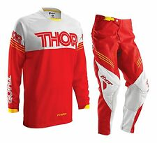 Thor 2016 Youth Phase Hyperion Gear Set Red Motocross Kids Pants + FREE JERSEY
