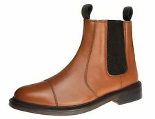 Bench Grade Stratford Tan Brown Slip On Chelsea Ankle Boots Pull Welted Dealer