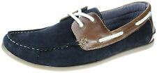Red Tape Horner Navy Lace Up Deck Shoes Mens Leather Boat