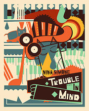 0309 Vintage Music Poster Art  Nina Simone Trouble In Mind  *FREE POSTERS0