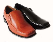 NEW MENS SLIP ON LOAFERS COMFORT LEATHER LINED CLASSIC DRESS SHOE FREE SHOE HORN