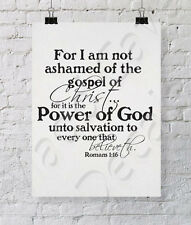 Romans 1:16 Power of God Christian Wall Decal Vinyl Religious Quote Scripture