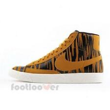 Shoes Nike Womens Blazer Mid Suede Print Vintage 586304 700 Basket Gold Fashion