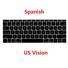 "Spanish US Keyboard Cover Skin for Apple Macbook Air Pro Retina MAC 13"" 15"" 17"""