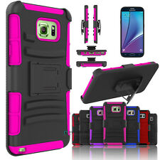 Hybrid Armor Cover Case + Belt Clip Holster Kickstand for Samsung Galaxy Note 5
