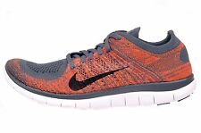 Nike Free 4.0 Flyknit Mens Running Shoes Run Sneakers Grey 631053-013