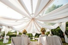 """Chiffon Fabric 60"""" Wide Roll Sheer Draping 40 Color Wedding Party SALE USA"""