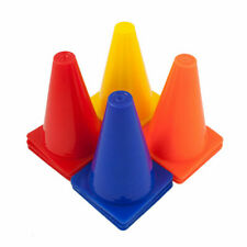 "FH FOOTBALL TRAINING TRAFFIC CONES 4"" 6"" 12"" SET OF 4 SPORTS TEAM SPACE MARKERS"