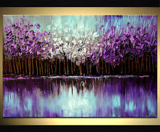 MODERN ABSTRACT HUGE WALL ART OIL PAINTING ON CANVAS-Knife FLOWER
