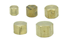 Brass Female BSPP Pipe Cap Fittings Full Range BSP Tube End Fuel Air Water