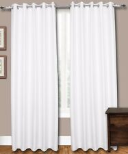 """White Faux Silk Curtains, 51"""" (130 cm) Wide - Choice of PlainTop, Length, Lining"""