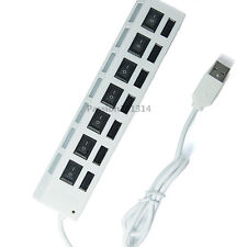 7 Port High Speed USB 2.0 External Multi Expansion Hub with ON / OFF Switch