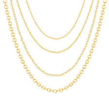 14 k rose gold filled chains necklace jewelry wholesale 1.4mm Round Cable