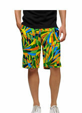 NWT Men's Loudmouth Golf PEACOCK Shorts John Daly Green Orange Blue 32 42