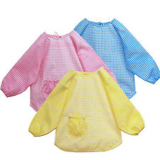 Baby ToddLer Kids Children Long Sleeve Waterproof Art Smock Bib Apron Mom helper