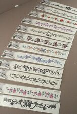 2 - 12 X TEMPORARY TATTOOS 12 DIFFERENT DESIGNS TRY BEFORE YOU GET A REAL ONE