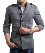 Fashion Men's Long Sleeve Stand Collar Casual Chinese Tunic Suit Coat Jackets