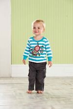 Mud Pie Safari Top with Monkey Applique and Corduroy  Cargo Pants
