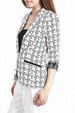 River Island Houndstooth Print Blazer Jacket Coat RRP £65 Size 6 to 18