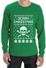 Ugly Christmas Sweater - Skull Scary Christmas Cool Long Sleeve T-Shirt Gift