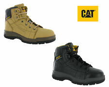 New Mens CAT/Caterpillar Dimen Leather 6 Inch Steal Toe Safety Boot