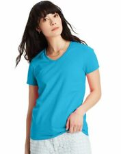 2 Hanes Relaxed Fit Women's ComfortSoft V-neck T-Shirts 5780
