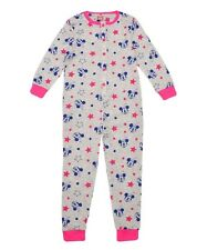 NEW Girls Disney Minnie Mouse Printed Cotton Footless Onesie Sleepsuit Ages 3-8y