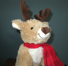 Christmas Reindeer Plush Stuffed Animal - Musical Toy 18 Note Music Box Movement