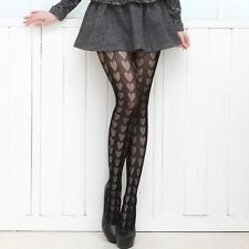 Womens Lady Hollow-out Hearts Fishnet Pantyhose Stockings Underwear Tights