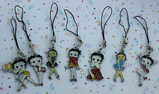 "POPULAR""BETTY BOOP MOBIL PHONE/CELL/CAMERA BAG/HAND BAG/ZIPPER/ECT!!DANGLE CHARM"