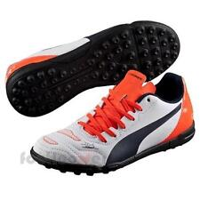 Shoes Soccer 5 Puma evoPOWER 4.2 TT Jr 103231 04 Boys White Orange Moda