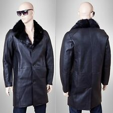Leather Coat Lamb Fur coat Alexander long Men's fur coat coat Winter coat