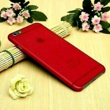 Transparent Red Matte Frosted Hard Cover Shell Case For Apple iPhone 6/6s PLUS