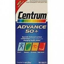 Centrum Advance Adults 50+ Multivitamin tablets Vitamins & Minerals 300 Sealed